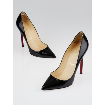 Christian Louboutin Black Patent Leather Pigalle 120 Pumps Size 7/37.5