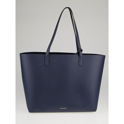 Mansur Gavriel Blu/Blu Calf Leather Large Tote Bag