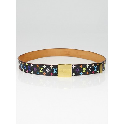 Louis Vuitton Black Monogram Multicolore Belt Size 80/32