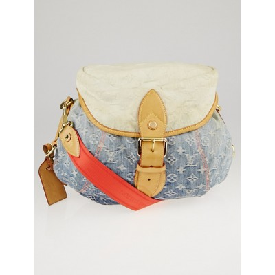 Louis Vuitton Limited Edition Blue Denim Monogram Denim Sunshine Bag