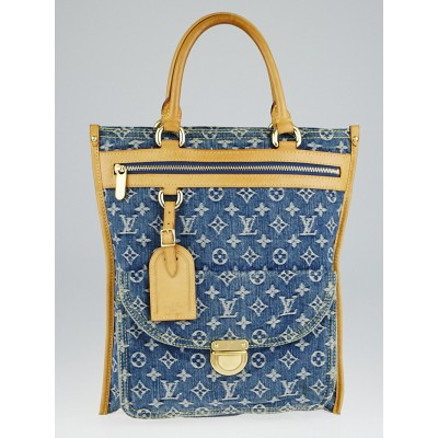 Louis Vuitton Blue Denim Monogram Denim Sac Plat Bag