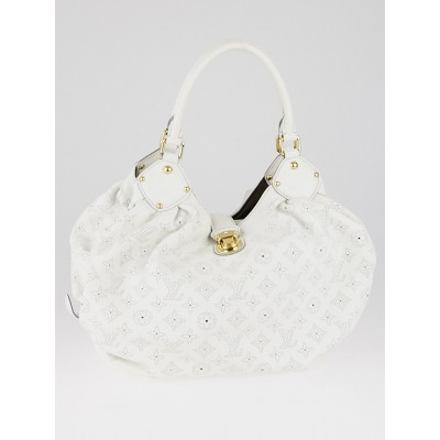 Louis Vuitton White Monogram Mahina Leather L Bag