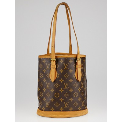 Louis Vuitton Monogram Canvas Petite Bucket Bag w/o Accessories Pouch