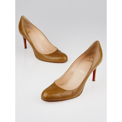 Christian Louboutin Camel Leather Simple 85 Pumps Size 10.5/41