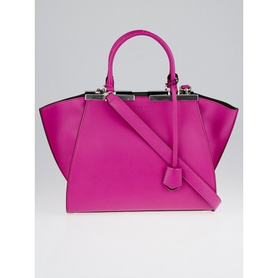 Fendi Magenta/Coal Leather 3Jours Tote Bag 8BH279