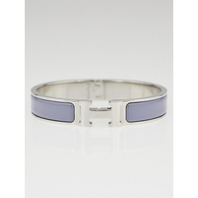 Hermes Grapevine Enamel Palladium Plated Clic H PM Narrow Bracelet