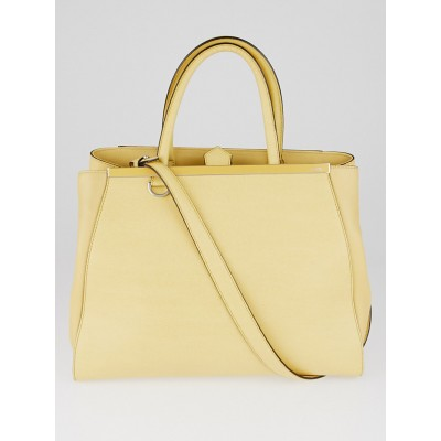 Fendi Yellow Vitello Leather Medium 2Jours Elite Tote Bag 8BH250