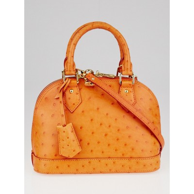 Louis Vuitton Piment Ostrich Leather Alma BB Bag