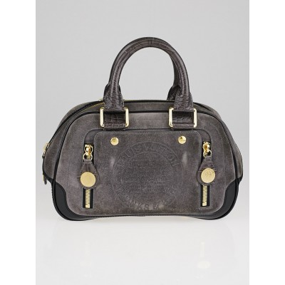 Louis Vuitton Limited Edition Grey Suede Havane Stamped Trunk PM Bag