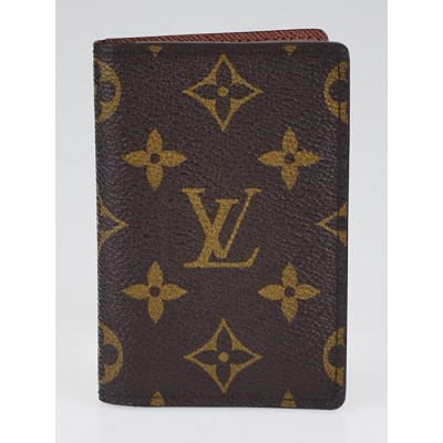 Louis Vuitton Monogram Canvas Pocket Organizer NM Wallet