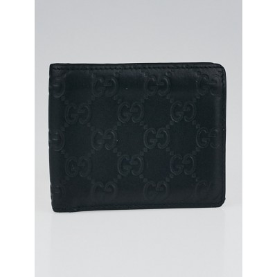 Gucci Black Guccissima Leather Bifold Wallet