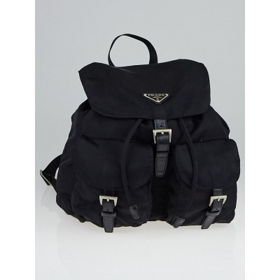 Prada Black Tessuto Nylon Zainetto Backpack Bag
