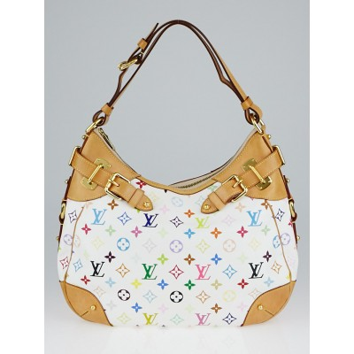 Louis Vuitton White Monogram Multicolore Greta Bag