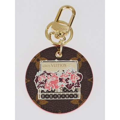 Louis Vuitton Monogram Canvas Illustre Posies Key Holder and Bag Charm