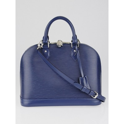 Louis Vuitton Indigo Epi Leather Alma PM Bag w/Strap