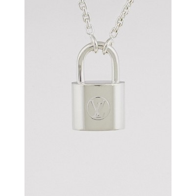 Louis Vuitton Sterling Silver Lockit Necklace