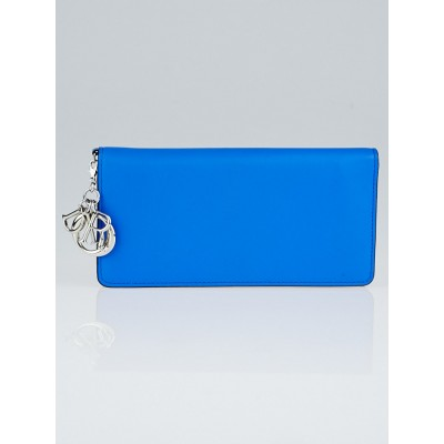 Christian Dior Blue/Pink Smooth Leather Diorisssimo Wallet