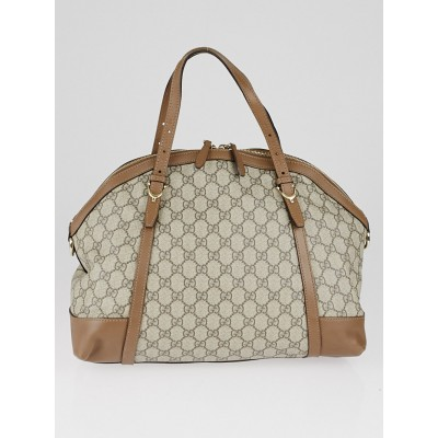 Gucci Beige/Ebony GG Supreme Canvas Nice Top Handle Bag