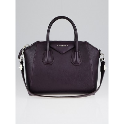 Givenchy Purple Sugar Goatskin Leather Small Antigona Bag