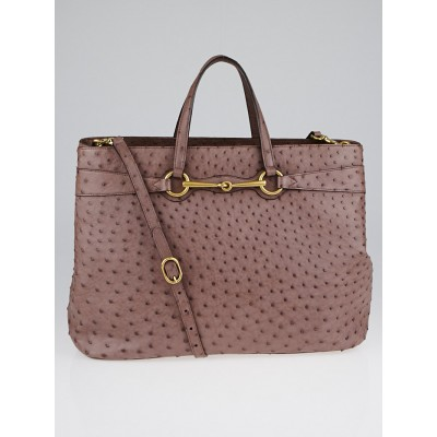 Gucci Purple Ostrich Bright Bit Tote Bag