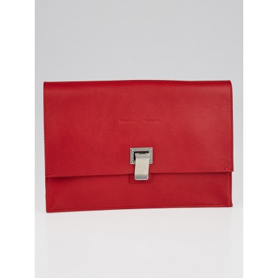 Proenza Schouler Red Leather Small Lunch Clutch Bag
