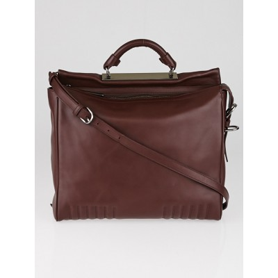 3.1 Phillip Lim Mahogany Leather Ryder Satchel Bag