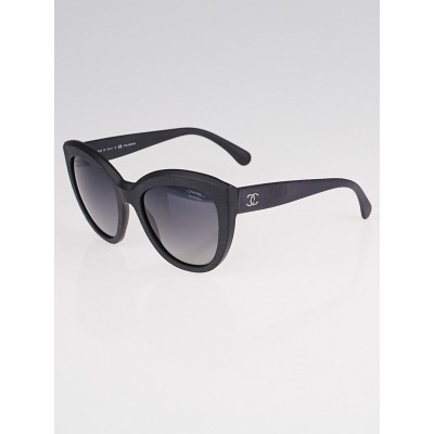 Chanel Black Acetate Frame Butterfly Signature Sunglasses-5332