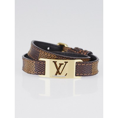 Louis Vuitton Damier Canvas Sign It Bracelet Size 19