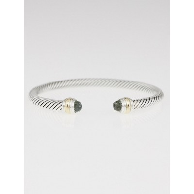 David Yurman 5mm Sterling Silver and Prasiolite Cable Classics Bracelet