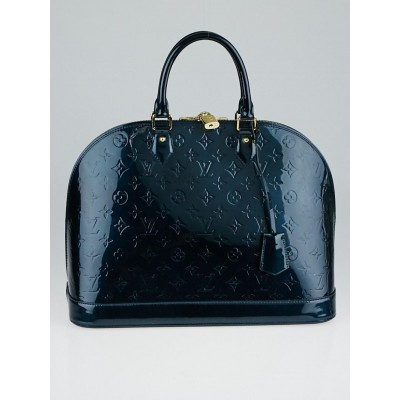 Louis Vuitton Bleu Nuit Monogram Vernis Alma GM Bag