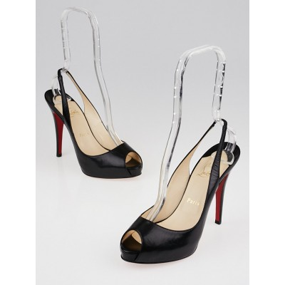 Christian Louboutin Black Leather No Prive 120 Pumps Size 8/38.5