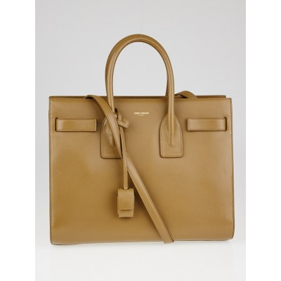Yves Saint Laurent Tan Leather Small Sac de Jour Tote Bag