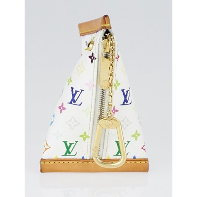 Louis Vuitton White Monogram Multicolore Canvas Berlingot Change and Key Holder