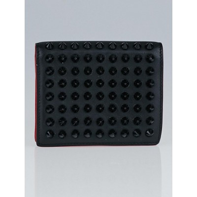 Christian Louboutin Black Leather and Spikes Paros Wallet