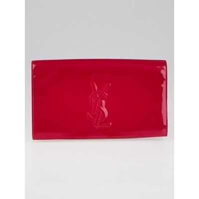 Yves Saint Laurent Fuchsia Patent Leather Belle de Jour Clutch Bag
