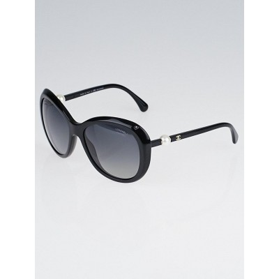 Chanel Black Oversized Frame Faux Pearl Sunglasses - 5302-H