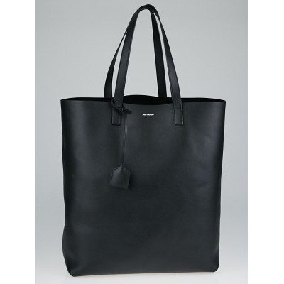 Yves Saint Laurent Black Leather Shopping Saint Laurent Tote Bag