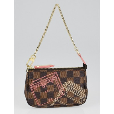 Louis Vuitton Limited Edition Damier Canvas Christmas Mini Accessories Pochette Bag