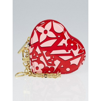 Louis Vuitton Pomme D'Amour Sweet Monogram Vernis Heart Coin Purse