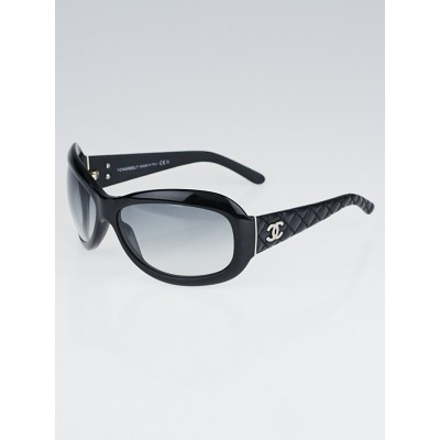 Chanel Black Frame Quilted CC Logo Sunglasses - 5116
