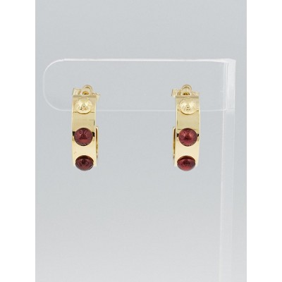 Louis Vuitton Goldtone Metal Gimme a Clue Hoop PM Earrings