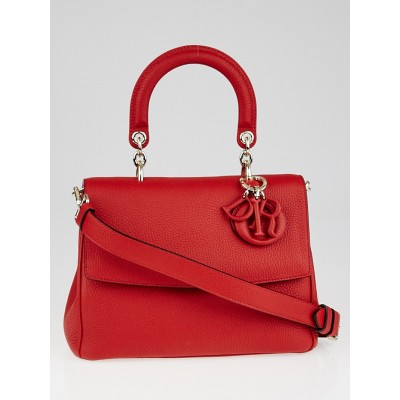 Christian Dior Red Pebbled Leather Be Dior Small Flap Bag
