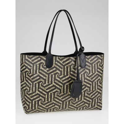 Gucci Beige/Black GG Coated Canvas Caleido Leather Reversible Tote Bag