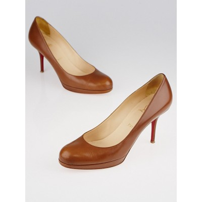 Christian Louboutin Brown Leather Prorata 90 Pumps Size 9.5/40
