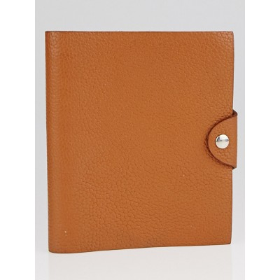 Hermes Gold Togo Leather Ulysse PM Agenda/Notebook
