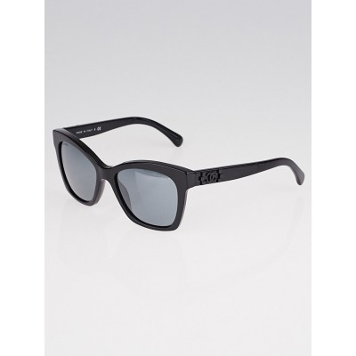 Chanel Black Plastic Frame Gradient Tint Boy Sunglasses- 5313