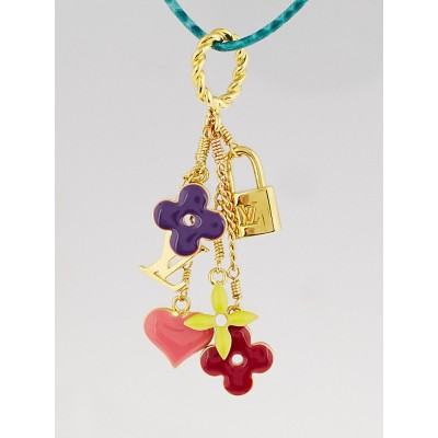 Louis Vuitton Multicolore Sweet Monogram Pendant Necklace