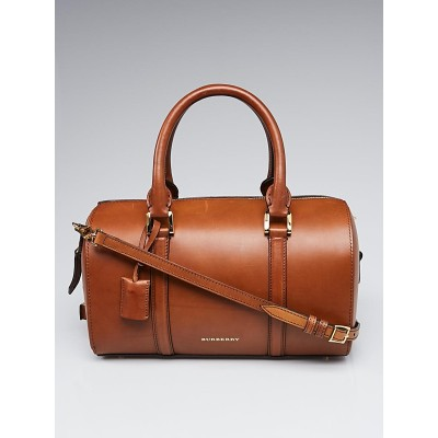 Burberry Brown Smooth Leather Medium Alchester Bowling Bag