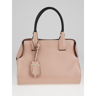 Tod's Light Pink Leather Small Cape Tote Bag