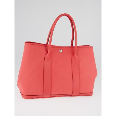 Hermes Bougainvillea Canvas and Negonda Leather Garden Party MM Tote Bag